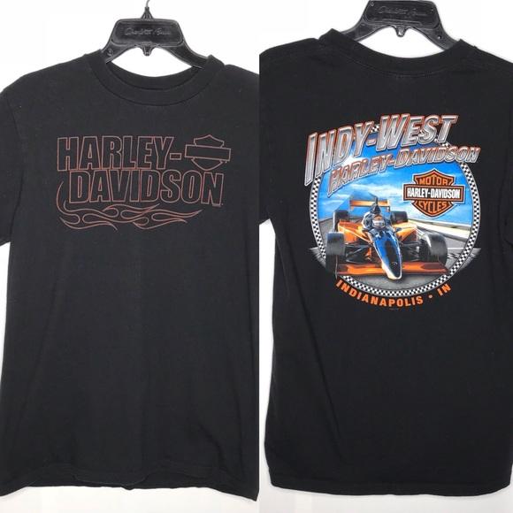 Harley Davidson Logo Graphic T-shirt Medium